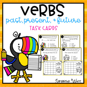 Verbs - Past, Present, & Future Task Cards