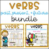Verbs - Past, Present, Future Worksheets & Task Cards BUNDLE