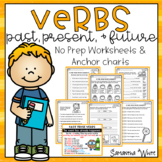 Verbs Past, Present, and Future Worksheets & Anchor charts