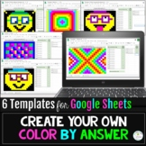 Pixel Art Create Your Own Color by Answer Google Sheets Di