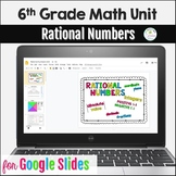 Distance Learning 6th Grade Rational Numbers Unit Google Slides