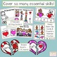 Valentine's Centers - 10 Engaging Activities - Writing, Rhyming, Math, & More