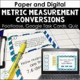 Metric Measurement Conversions Print & Digital Task Cards Quiz Distance Learning