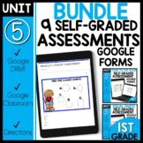Math Self-Grading Assessment |Google Classroom™ Distance L