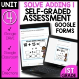 Math Self-Grading Assessments |Distance Learning | Addition