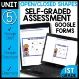 Math Self-Grading Assessments |Distance Learning | Shapes