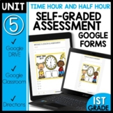 Math Self-Grading Assessments |Distance Learning | Telling Time