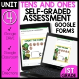 Math Self-Grading Assessments |Distance Learning |Tens and Ones
