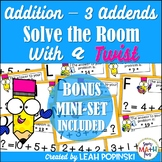 Addition With 3 Addends - 1st Grade Math - Solve the Room