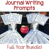 Journal Writing Prompts Full Year Bundle   Back to School