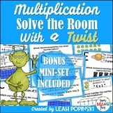 Multiplication Arrays and Equal Groups - Solve the Room wi