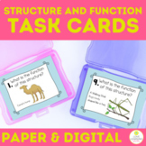 Animal and Plant Structure and Function Task Cards 4-LS1 p