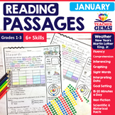 January Reading Passages - Weather and More