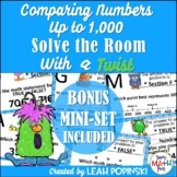 Place Value Task Cards {Comparing} - 2nd Grade - Solve the