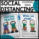 Social Distancing Coloring Book EDITABLE | Classroom Rules