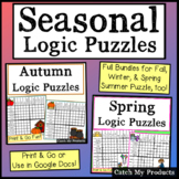 Digital Logic Puzzles Worksheets or Distance Learning Virt