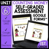 Math Self-Grading Assessments |Distance Learning| Count Coins