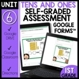 Tens and Ones Math Self-Grading Assessments