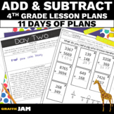 4th Grade Math Addition and Subtraction Lesson Plans