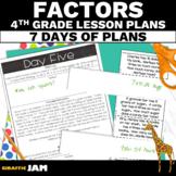 4th Grade Math Lesson Plans Comparisons and Factors