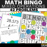 4th Grade Mixed Operations Bingo - Word Problems and Equations