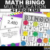 4th Grade Bingo - Multiplication Math Game - Word Problems and Equations