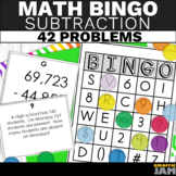 4th Grade Subtraction Bingo - Subtraction Math Game - Word Problems & Equations