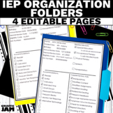 IEP At a Glance Sheets | IEP Organizer | Special Education Organization