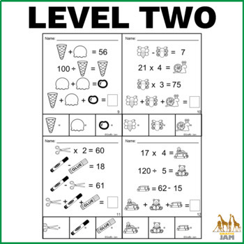 Logic Problem Solving Math Activity with Answer Key No Prep