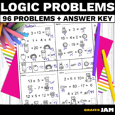 Logic Problem Solving Math Activity with Answer Key No Prep