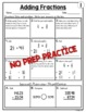 Adding Fractions with Unlike Denominators Worksheets