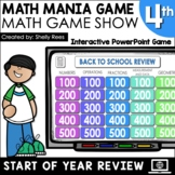 4th Grade Math Review Game Test Prep | Interactive PowerPo