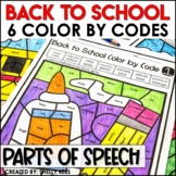 Back to School Coloring Pages Parts of Speech Color by Code