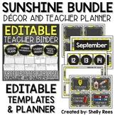 Chalkboard Themed Classroom Decor and Teacher Planner Bundle