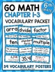 Go Math 6th Grade Vocabulary for the Year