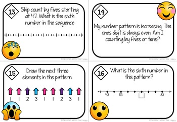 Number Patterns Task Cards Numbers to 200