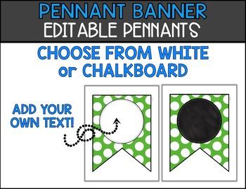 Editable Banner - Pennant Banner