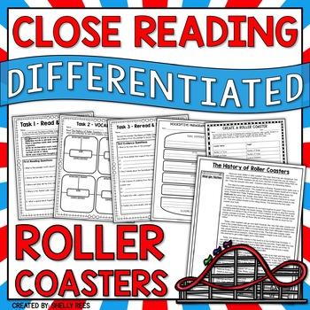 Roller Coaster Reading Comprehension Design a Theme Park Roller Coaster