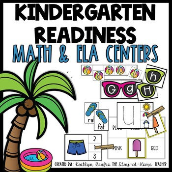Summer Kindergarten Readiness Math and Reading Centers