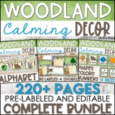 Woodland Animals Classroom Decor Bundle - Woodland Theme Classroom Decor