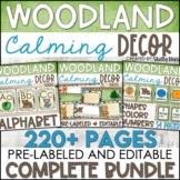 Woodland Animals Classroom Decor Bundle - Woodland Theme C