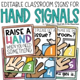 Editable Hand Signal Signs Colorful