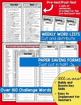 4th Grade Spelling and Vocabulary Program - Weeks 10-18