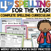 4th Grade Spelling and Vocabulary Program for the YEAR