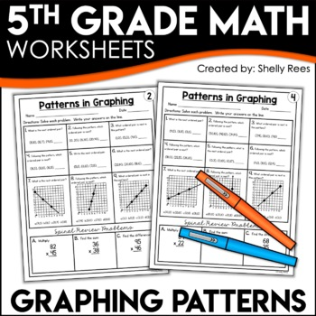 5th Grade Math Homework Graphing Patterns Worksheets