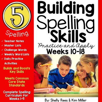 5th Grade Spelling and Vocabulary Program - Weeks 10-18