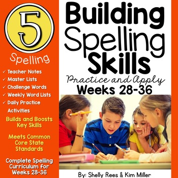 5th Grade Spelling and Vocabulary Program - Weeks 28-36