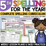 5th Grade Spelling and Vocabulary Program for the YEAR
