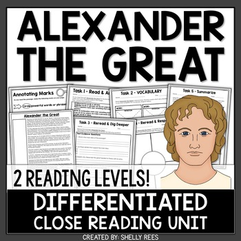 Alexander the Great Reading Passage and Worksheets