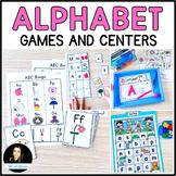 Alphabet Games BUNDLE Bingo Matching Mats and Test Prep Cards